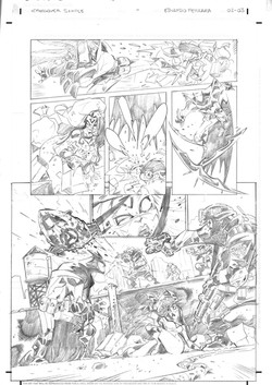 Marvel x DC Sample Pages 2-3