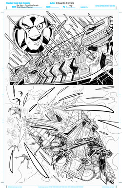 Star Wars - Clone Wars Sample Pages 5-6