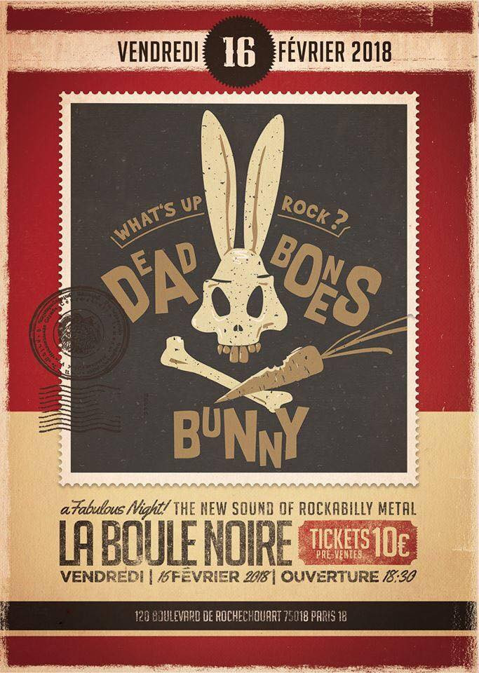 Premier concert de Dead Bones Bunny.