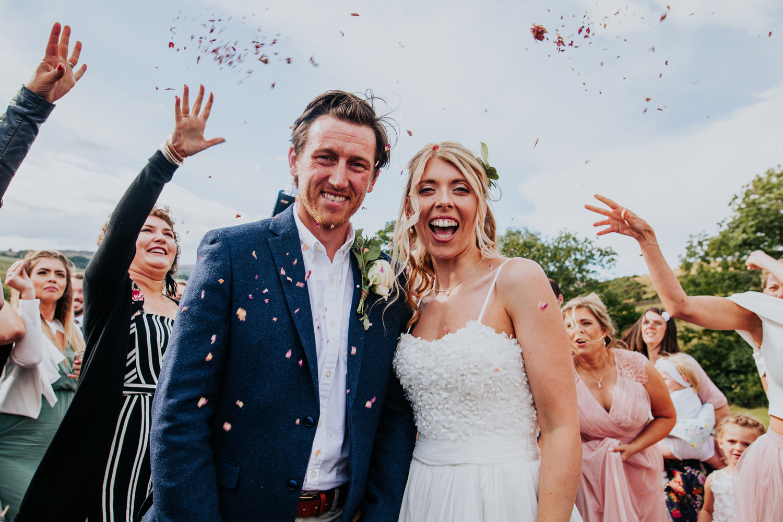 Fun wedding photography in Kendal Lake District