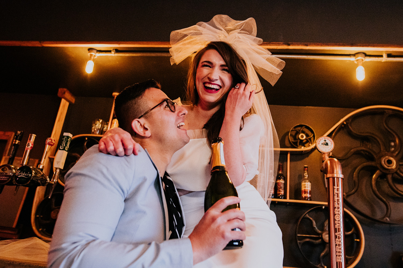 Fun wedding photography at Ponden Mill