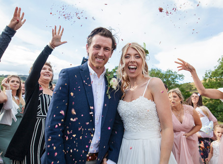 Sophia & Tom's Kendal rustic festival wedding