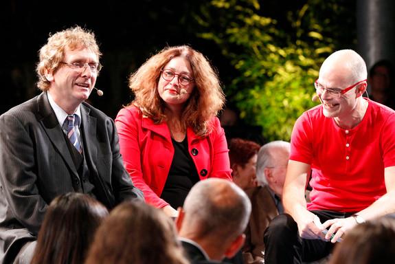 Prof. Braungart und Monika Griefhahn
