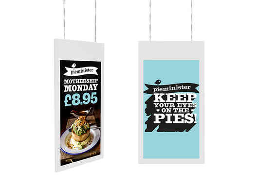 Hanging Double-Sided Window Displays - W