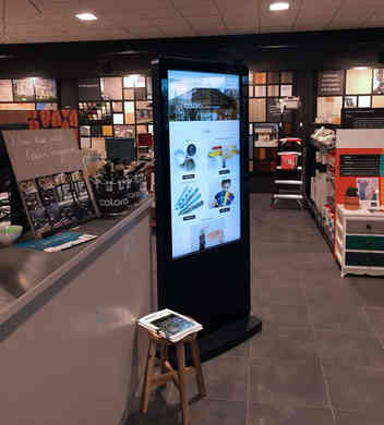 Infrared Freestanding Touch Screen with