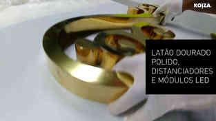 RECLAMO EM LETRAS MONOBLOCO 3D com luz LED