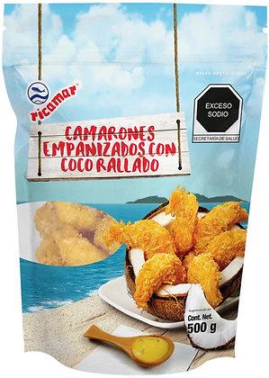 Camarones Empanizados con Coco Rallado