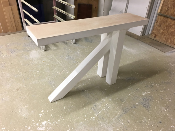 Entrance table finished.JPG