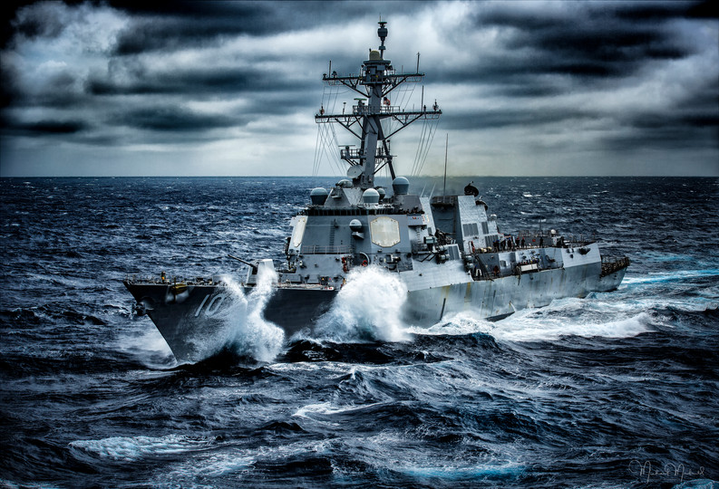 Destroyer at Sea