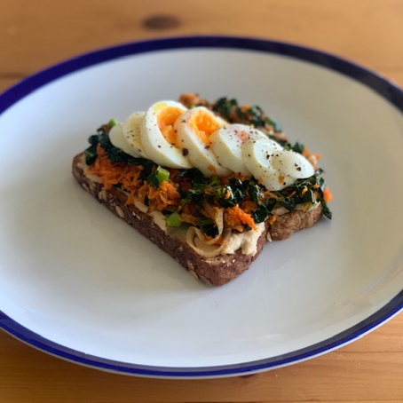 Oh So Fancy Open-Faced Breakfast Sandwich