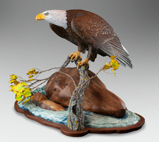 Life-Sized Eagle Carving