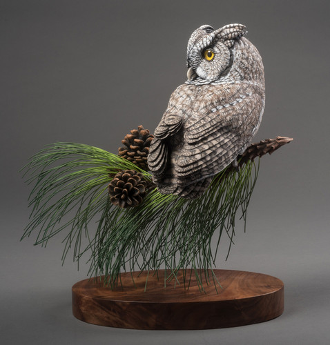 Screech Owl Carving