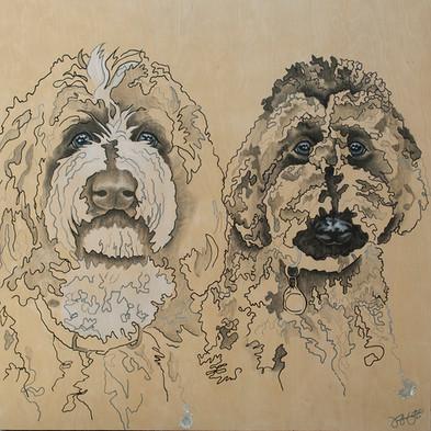 Abstract Dog Portraits