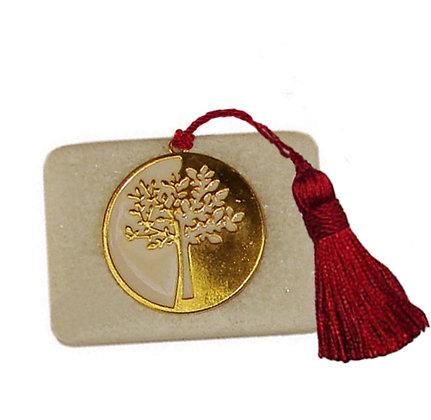 411.3103 - Διακοσμητική Πέτρα 7cm x 5cm, Δέντρο Ζωής Με Φούντα
