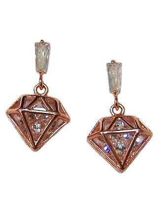 SE.101 - Ατσάλινα Σκουλαρίκια Διαμάντι