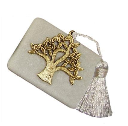 411.3012 - Διακοσμητική Πέτρα 7cm x 5cm, Δέντρο Ζωής Με Φούντα