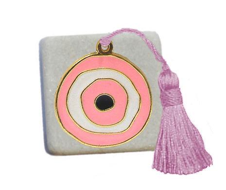 400.3108P - Διακοσμητική Πέτρα 5cm x 5cm,Ματάκι Με Φούντα
