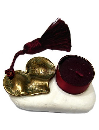 VS.1003 - Διακοσμητική Πέτρα Με Καρδιά Και Ρεσώ