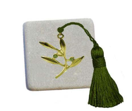 400.2187 - Διακοσμητική Πέτρα 5cm x 5cm, Κλαδάκι Ελιάς Με Φούντα