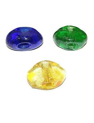 00.0101 - Γυάλινη Χάντρα Πλακέ 3.5cm x 2cm x 1cm