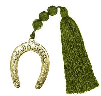 Γούρι 11cm Πέταλο Και Φούντα Με Γυάλινες Χάντρες - 019Β.3082