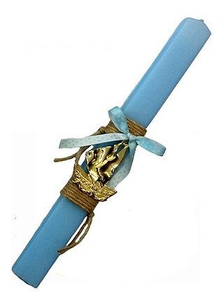 01.1892 - Λαμπάδα Πλακέ 33cm Με Μεταλλικό Καραβάκι