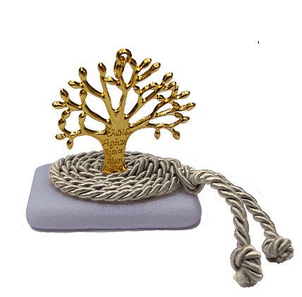 412.3011E - Διακοσμητική Πέτρα 7cm x 5cm, Δέντρο Σε Κορδόνι
