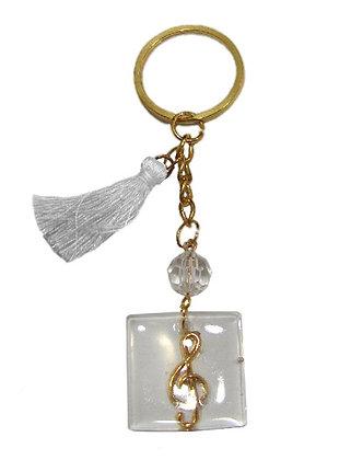 303.3115 - Γούρι Μπρελόκ 10cm Με Κλειδί Σόλ Σε Plexiglass