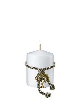 811.3013 - Κερί Κύλινδρος 5cm x 6cm Δέντρο Ζωής