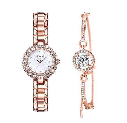 WWBR.206 - Γυναικείο Ρολόι Με Βραχιόλι Κρύσταλλα.