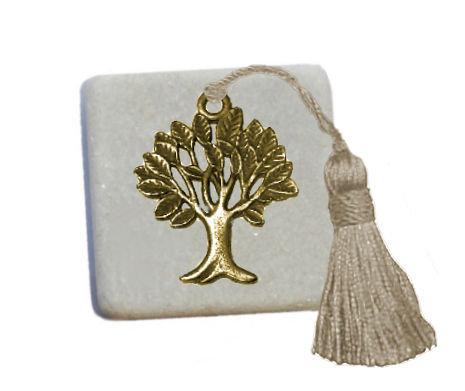 400.3013 - Διακοσμητική Πέτρα 5cm x 5cm, Δέντρο Ζωής Με Φούντα
