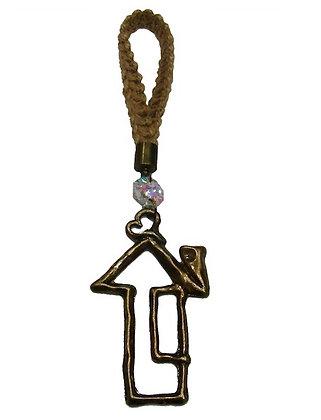 023.2885 - Γούρι Portes Cles 15cm Με Σπίτι