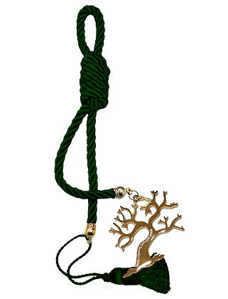 040F.3166 - Γούρι 40cm Σε Τρίκλωνο Κορδόνι, Δέντρο Ζωής Και Φούντα