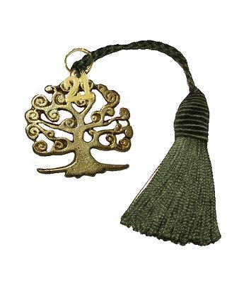 017.3178 - Γούρι 10cm Με Δέντρο Και Φούντα 5cm