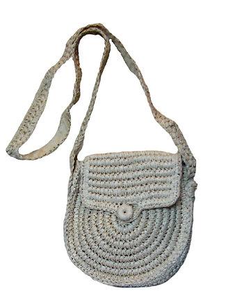 WBSW.204 - Χειροποίητη Ψάθινη Πλεκτή Τσάντα Ώμου