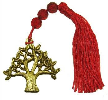#019B.3012 - Γούρι 11cm Δέντρο Και Φούντα Με Γυάλινες Χάντρες