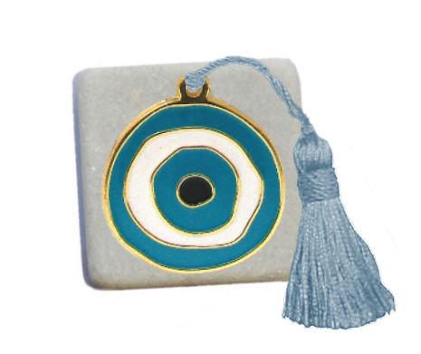 400.3108S - Διακοσμητική Πέτρα 5cm x 5cm,Ματάκι Με Φούντα