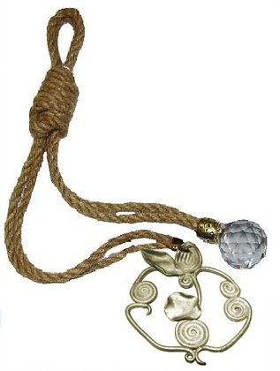 120.3135 - Γούρι 35cm Γιούτα Κορδόνι Με Ρόδι Και Κρύσταλλο.