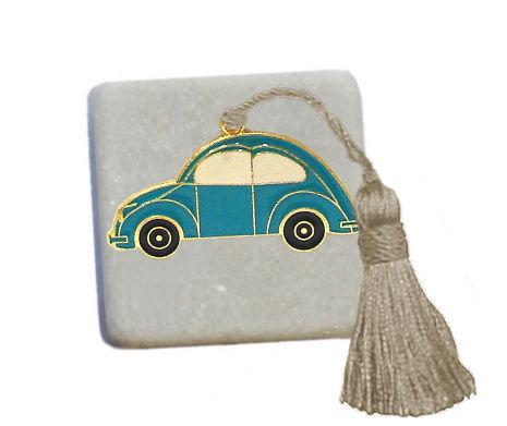 400.3100 - Διακοσμητική Πέτρα 5cm x 5cm, Αμαξάκι Με Φούντα