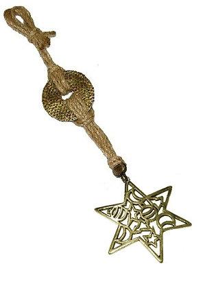 121.3148 - Γούρι 30cm Γιούτα Κορδόνι Με Αστέρι