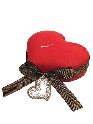VC.1012 - Διακοσμητικό Κερί Με Καρδιά