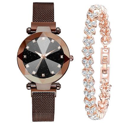 WWBR.210 - Γυναικείο Ρολόι Με Βραχιόλι Κρύσταλλα.