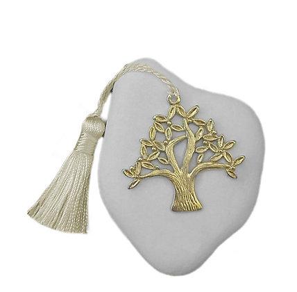 401.3012 - Πέτρα Γούρι Ακανόνιστη 4-6cm, Δέντρο, Φούντα