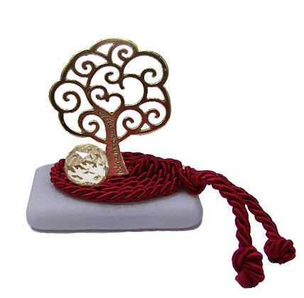 414.3161Ε - Διακοσμητική Πέτρα 7cm x 5cm, Δέντρο Και Κρύσταλλο Σε Κορδόνι