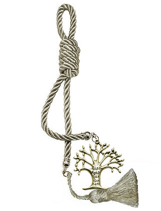 040F.3011 - Γούρι 40cm Σε Τρίκλωνο Κορδόνι, Δέντρο Ζωής Και Φούντα