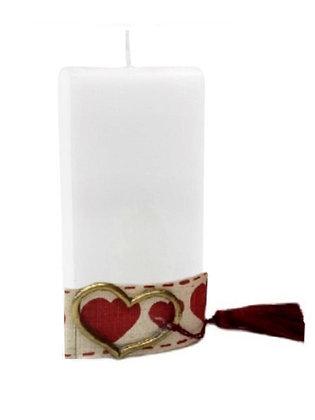 VC.1002 - Διακοσμητικό Κερί Με Καρδιά