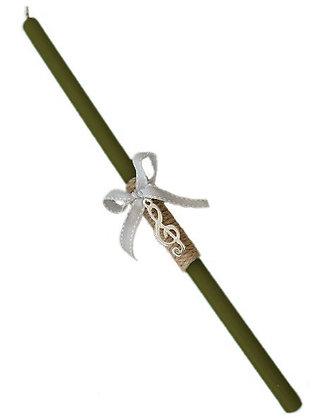 10.1247 - Λαμπαδάκι Στρογγυλό Με Κλειδί Σόλ 33cm