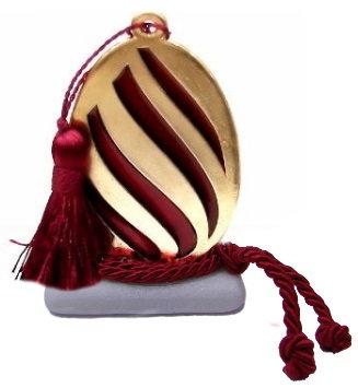 493.3026 - Διακοσμητική Πέτρα Με Αυγό Και Φούντα
