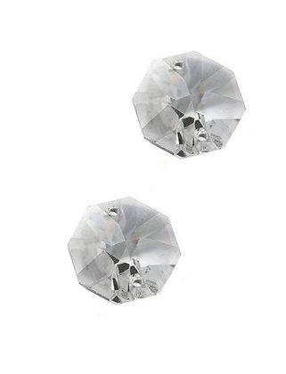 83.00.Clear - Κρύσταλλο Χάντρα Οκτάγωνο 2 Τρύπες 14mm