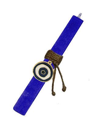 81.3108N - Λαμπάδα Τετράγωνη Σαγρέ Με Μάτι Σμάλτο 22cm